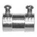 Cooper Crouse-Hinds 1450US Straight Insulated EMT Set-Screw Connector; 1/2 Inch, Steel, Electro-Plated Zinc