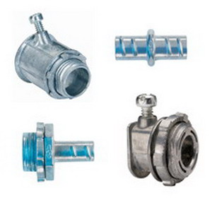 Cooper Crouse-Hinds 774DC Straight Non-Insulated Connector; 1-1/4 Inch, Die-Cast Zinc, Zinc-Plated, Screw-In x MNPT