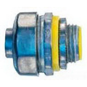 Cooper Crouse-Hinds LT100DC Straight Non-Insulated Liquidtight Connector; 1 Inch, Die-Cast Zinc, Natural