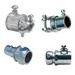 Cooper Crouse-Hinds FECS50DC Combination Coupling; 1/2 Inch x 1/2 Inch, Die-Cast Zinc, Set-Screw x Squeeze