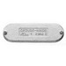 Cooper Crouse-Hinds K100CM HDG Cover; 1 Inch, Form 5, Cast Iron, Stainless Steel Screw