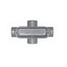 Cooper Crouse-Hinds X35 Type x Conduit Outlet Body; 1 Inch, Threaded, Copper-Free Aluminum