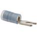 NSI S16-6N-L Nylon Insulated Locking Spade Terminal; 16-14 AWG, #6 Stud, 100/PK