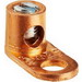 NSI TL4 Single Dual Rated Straight Pad Mechanical Lug Connector; 1/4 Inch Bolt Size, 14-4 AWG, 1 Hole Mount, Copper