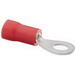 NSI R22-8V High Temperature Vinyl Insulated Ring Terminal; 22-18 AWG, #8 Stud, Red, 100/PK
