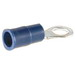 NSI R16-10V High Temperature Vinyl Insulated Ring Terminal; 16-14 AWG, #10 Stud, Blue, 100/PK