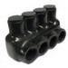 NSI IPL4-4A Polaris™ Multi Cable Connector Block; 14-4 AWG, 4 Ports, 600 Volt, Plastisol, Black