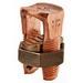 NSI N-1/0 Split Bolt Connector; 4 AWG Solid-1/0 AWG Stranded, 600 Volt, Copper