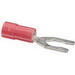 NSI S22-10V-L Vinyl Insulated Locking Spade Terminal; 22-18 AWG, #10 Stud, Red, 100/PK