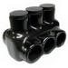 NSI IPLD350-3 Polaris™ Multi Cable Connector Block; 350 MCM-6 AWG, 3 Ports, 600 Volt, Plastisol, Black