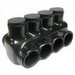 NSI IPLD350-4 Polaris™ Multi Cable Connector Block; 350 MCM-6 AWG, 4 Ports, 600 Volt, Plastisol, Black