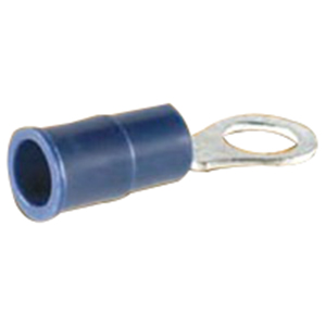 NSI R16-6V-S Miniterms Vinyl Insulated Ring Terminal; 16-14 AWG, #6 Stud, Blue, 25/PK