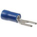 NSI S16-6V-S Vinyl Insulated Spade Terminal; 16-14 AWG, #6 Stud, Blue, 20/PK