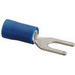 NSI S16-10V-S Vinyl Insulated Spade Terminal; 16-14 AWG, #10 Stud, Blue, 20/PK
