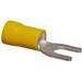 NSI S12-10V-S Vinyl Insulated Spade Terminal; 12-10 AWG, #10 Stud, Yellow, 15/PK