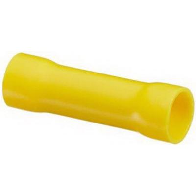 NSI B12-V-S Vinyl Insulated Butt Splice; 12-10 AWG, Yellow, 15/Pack