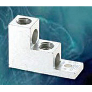 NSI 300T-2 Stacked Lug; 5/16 Inch Bolt Size, (2) 300 MCM - 6 AWG, 1 Hole Mount, 6061-T6 Aluminum Alloy, Tin-Plated