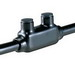 NSI ISR-250 Plastisol Insulated In-Line Splice Reducer; 6 AWG - 250 KCMIL, 5/16 Inch Stud, 2 Port, Black