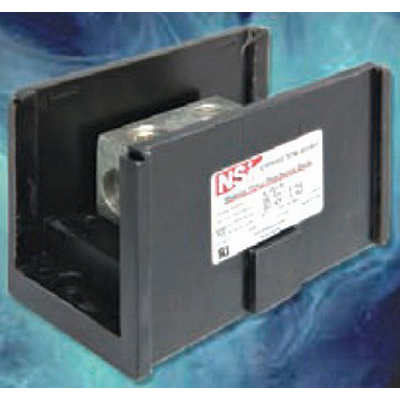 NSI AL-P2-P2 Connector Bloks™ Power Distribution Block; 600 Volt, 620 Amp Per Pole, Black