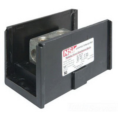 NSI AS-K1-K1 Connector Bloks™ Power Distribution Block; 600 Volt, 175 Amp Per Pole, Black