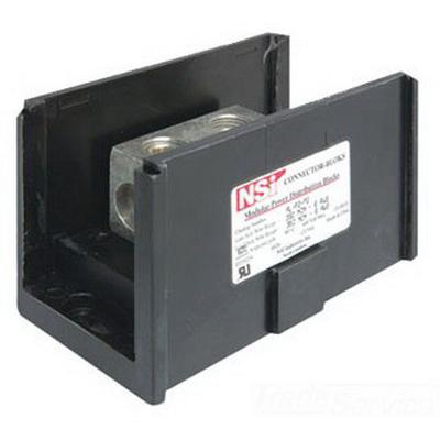 NSI AM-R1-R1 Connector Bloks™ Power Distribution Block; 600 Volt, 380 Amp Per Pole, Black