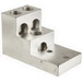 NSI 600T-3 Stacked Lug; 3/8 Inch Bolt Size, (3) 600 MCM - 2 AWG Aluminum/Copper, 2 Hole Mount, 6061-T6 Aluminum Alloy, Tin-Plated