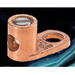 NSI TL8 Type TL Terminal Connector Lug; 3/16 Inch Bolt Size, 8 AWG Stranded - 14 AWG Solid, 1 Hole Mount, Copper/Cast Bronze