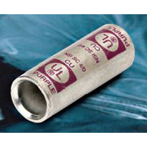 NSI SC-1/0 Short Barrel Compression Splice; 1/0 AWG, Pink