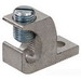 NSI GLA-000 Straight GLA Series Lay-In Lug Connector; 3/0 - 6 AWG Copper/Aluminum, 6061-T6 Aluminum