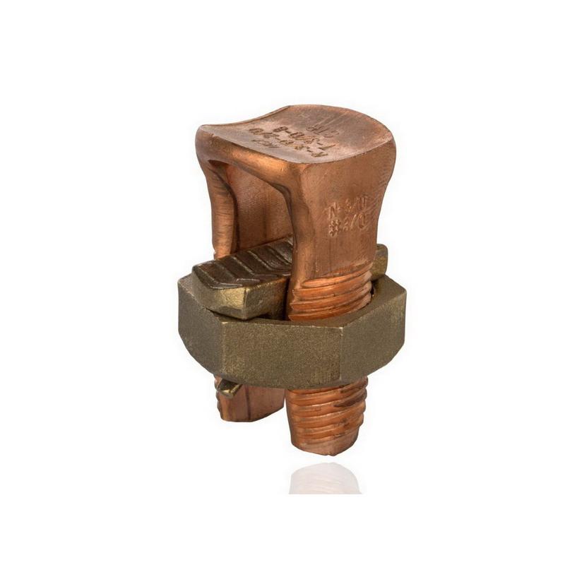 NSI N-350 Split Bolt Connector; 4/0 AWG Solid-350 MCM, 600 Volt, Copper