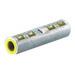 NSI ASC1/0T Dual Rated Standard Barrel Compression Splice; 1/0 AWG Aluminum/Copper, Tan