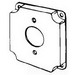 EGS 8363 Receptacle Raised Square Box Cover; AISI/SAE 1008 Steel, 7 Cubic-Inch
