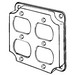 EGS 8371N Duplex Receptacle Raised Square Weatherproof Cover; AISI/SAE 1008 Steel, 7 Cubic-Inch