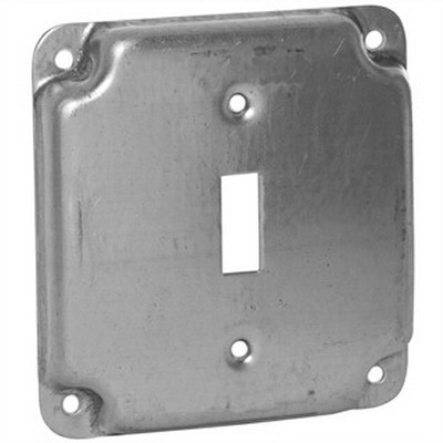 EGS 8361 Toggle Raised Square Box Cover; AISI/SAE 1008 Steel, 7 Cubic-Inch