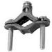EGS GC-6 Neer® GC Series Grounding Clamp; 4-1/2 - 6 Inch, Cast Bronze Alloy, Steel Screw, Zinc-Plated
