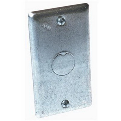 EGS 2555 1-Knockout Handy Box Cover; AISI/SAE 1008 Steel