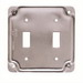 EGS 8367 Toggle Raised Square Box Cover; AISI/SAE 1008 Steel, 7 Cubic-Inch