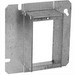 EGS 856-150 2-Device Raised 4-11/16 Inch Square Box Raised Cover; AISI/SAE 1008 Steel, 12 Cubic-Inch, 1-1/2 Inch Depth