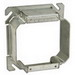 EGS 847-150 2-Device Raised Square Box Cover; AISI/SAE 1008 Steel, 18.3 Cubic-Inch, 1-1/2 Inch Depth