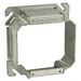 EGS 8469B 2-Device Raised Square Box Cover; AISI/SAE 1008 Steel, 15 Cubic-Inch, 1-1/4 Inch Depth