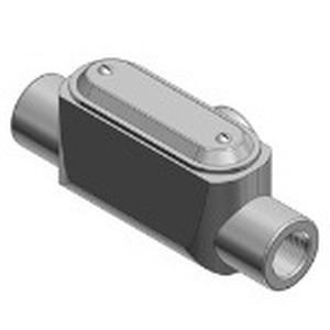 Ocal T47SA-G Type T Conduit Body and Cover 1-1/4 Inch  Form 7  Aluminum  Dark Gray