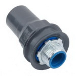Ocal ST3/4-G Straight Liquidtight Conduit Connector; 3/4 Inch, Steel, PVC Coated
