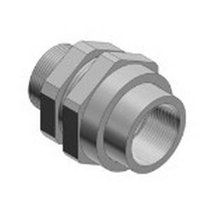 Ocal UNY205-G 3-Piece Union; 3/4 Inch, Male, Electrogalvanized Steel, Dark Gray