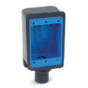 """Ocal FD1-G Ocal-Blue Dead-End 1-Gang FD Device Box 1/2 Inch Hub, Iron, Dark Gray, 1/2 Inch End Hub,"""""""