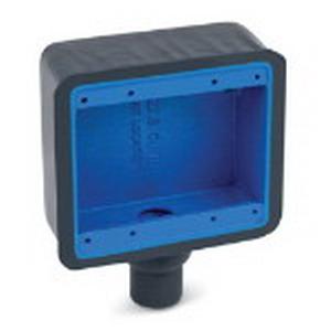 """Ocal FD22-G Ocal-Blue Dead-End 2-Gang FD Device Box 1 3/4 Inch End Hub, Iron, Dark Gray, 3/4 Inch End Hub,"""""""