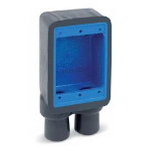 """Ocal FSS2-G Ocal-Blue Dead-End 2-Gang FS Device Box 2 3/4 Inch Hub, Iron, Dark Gray, 3/4 Inch Hub,"""""""