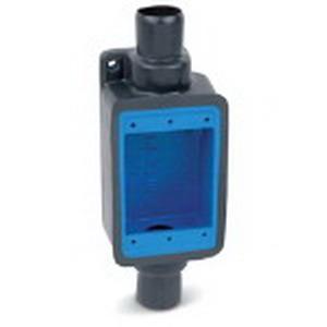"""Ocal FSC1-G Ocal-Blue Through-Feed 1-Gang FS Device Box 1/2 Inch Hub, Iron, Dark Gray, 1/2 Inch Straight Hub,"""""""