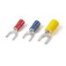 Catamount TV14-6F-XV Sta-Kon® Vinyl Insulated Fork Terminal; 16-14 AWG, #6 Stud, Blue