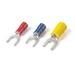 Catamount TV14-8F-XV Sta-Kon® Vinyl Insulated Fork Terminal; 16-14 AWG, #8 Stud, Blue