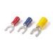 Catamount TV10-10LF-XV Sta-Kon® Vinyl Insulated Locking Fork Terminal; 12-10 AWG, #10 Stud, Yellow